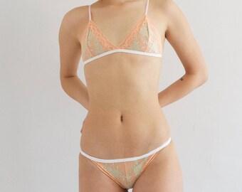 Peach Triangle Bralette