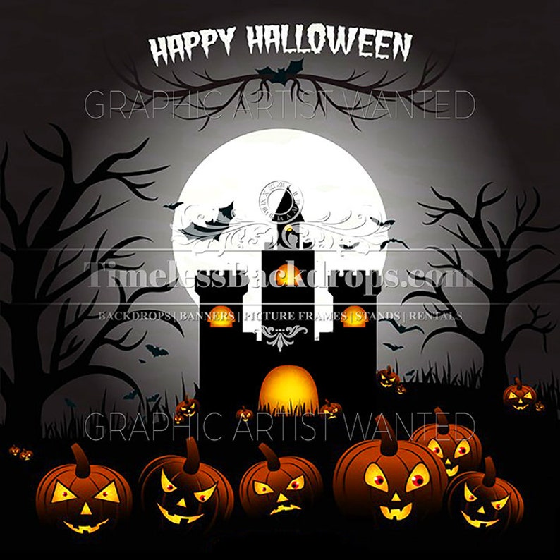 Timeless Backdrops 103 Halloween Backdrop Banner Background For Parties Special Event Celebration Photography In Home Wall Mural