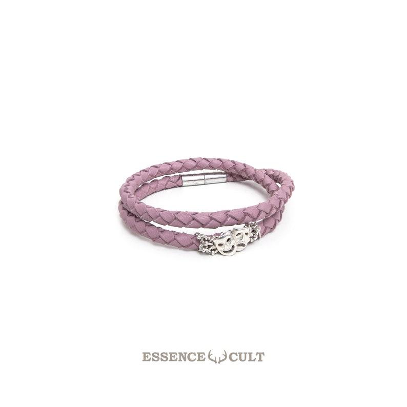 c4452f8b6e6d87 Essence Cult Pink and Blush Leather Bracelet Twins Zodiac   Etsy