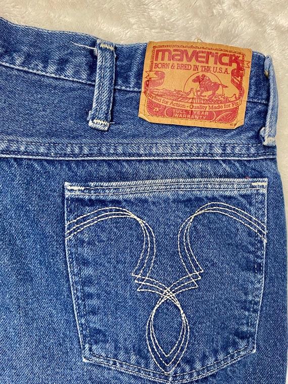 70's Maverick Jeans | Vintage High Rise Blue Jeans - image 6