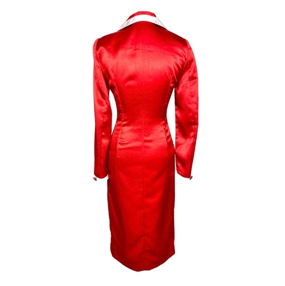 Vintage Clothing, 30's, Sheath Coat Dress, Silk l… - image 9