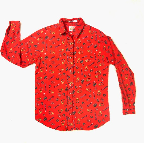 70's Western Shirt | Vintage Western Button Up Top - image 3