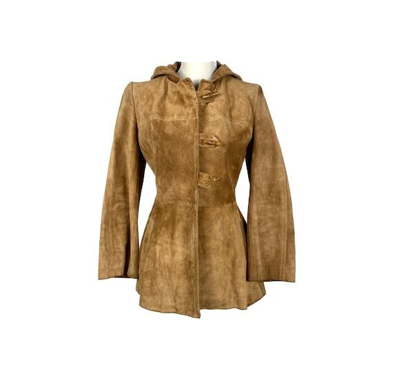 Vintage Jacket, Suede Hooded Jacket | 60's Suede J
