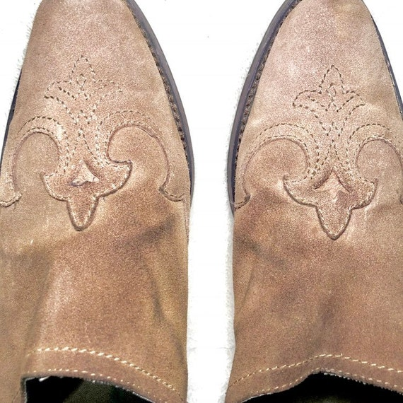 Vintage Western Mules | 90's Leather Shoes Mules - image 4