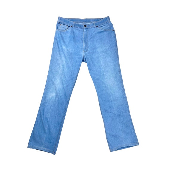 70's Orange Tab Levi's   Vintage High Rise Blue J… - image 2