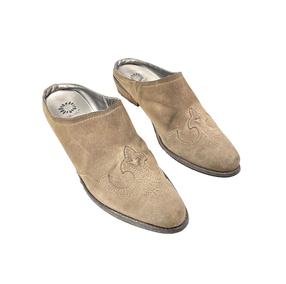 Vintage Western Mules | 90's Leather Shoes Mules - image 1