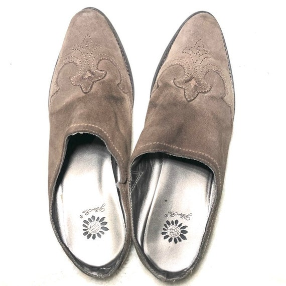 Vintage Western Mules | 90's Leather Shoes Mules - image 5
