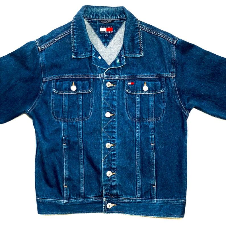 5e1bc22b Vintage Tommy Hilfiger Denim Jacket | Etsy
