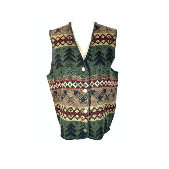 Vintage Woolrich Vest | 90's Button up Western Ves