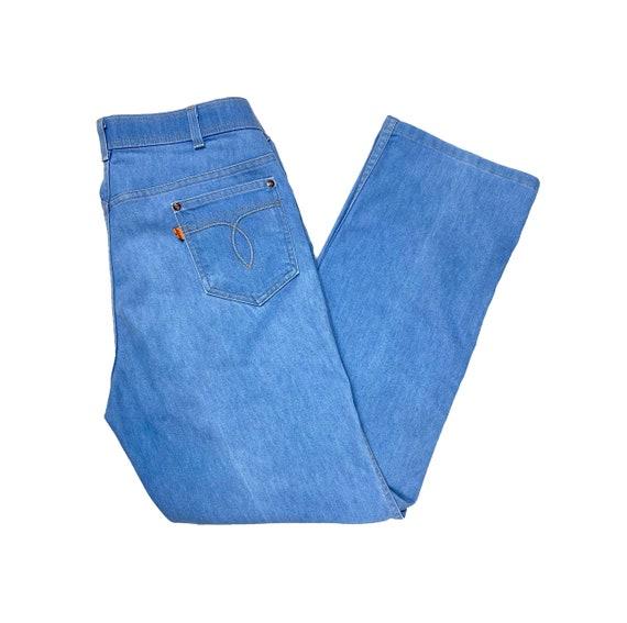 70's Orange Tab Levi's   Vintage High Rise Blue J… - image 1