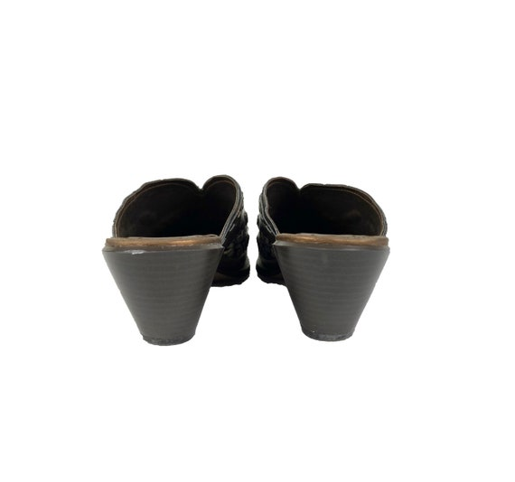 Vintage Leather Mules   90's Western Mules - image 5
