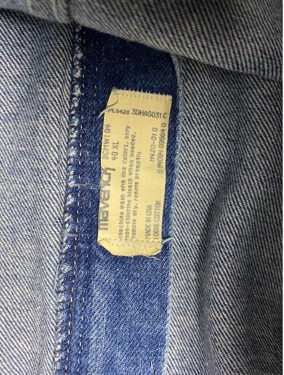 70's Maverick Jeans | Vintage High Rise Blue Jeans - image 7