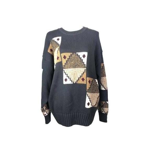 80's Southwestern Sweater | Vintage Oversized West