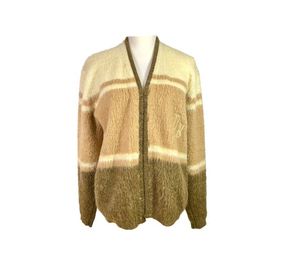 50's Wool Open Cardigan | Vintage Cardigan Sweater