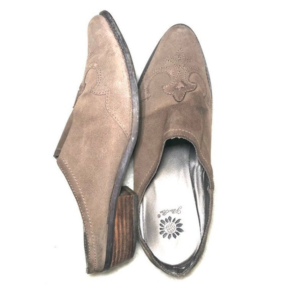 Vintage Western Mules | 90's Leather Shoes Mules - image 2