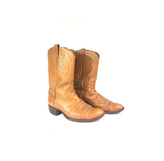 70's Cowboy Boots | Vintage Brown Leather Western