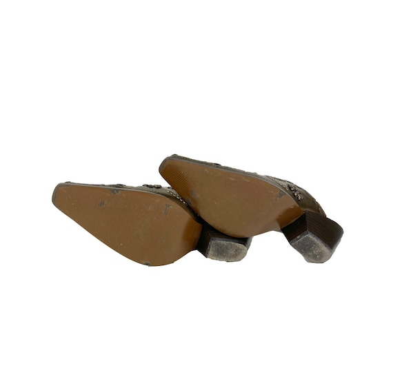 Vintage Leather Mules   90's Western Mules - image 6