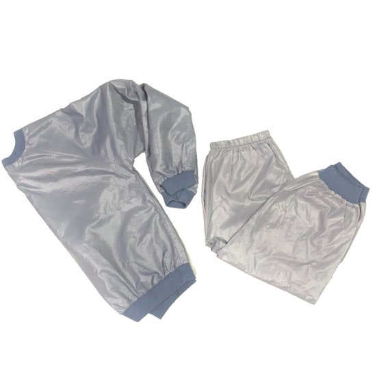 70's Track Suit   Vintage Space Gray Workout Wear - image 1
