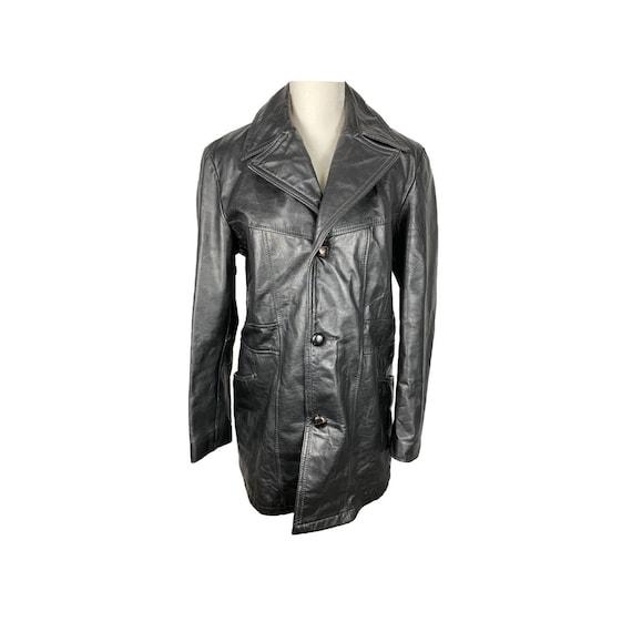 Leather Coat, Vintage Leather Coat, 70's Clothing,