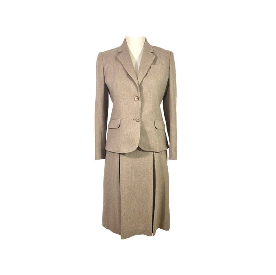 70's Wool Skirt Suit | Vintage Womens Suit