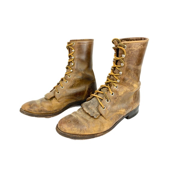 Vintage Roper Boots, Lace Up Boots, 70's Boots, Ki