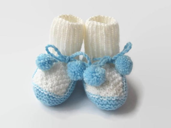 Knit Baby Boy Shoes Baby Boy Booties Newborn shoessize  3baccad62