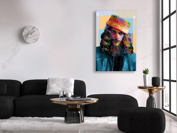 Ian o1 pop art kunstdruck f r b ro oder wohnzimmer etsy for Kunstdruck wohnzimmer