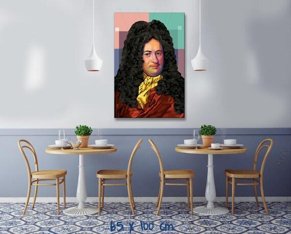Leibniz Pop Art Grafik Bilder Fur Zuhause Buro Geschenk Etsy