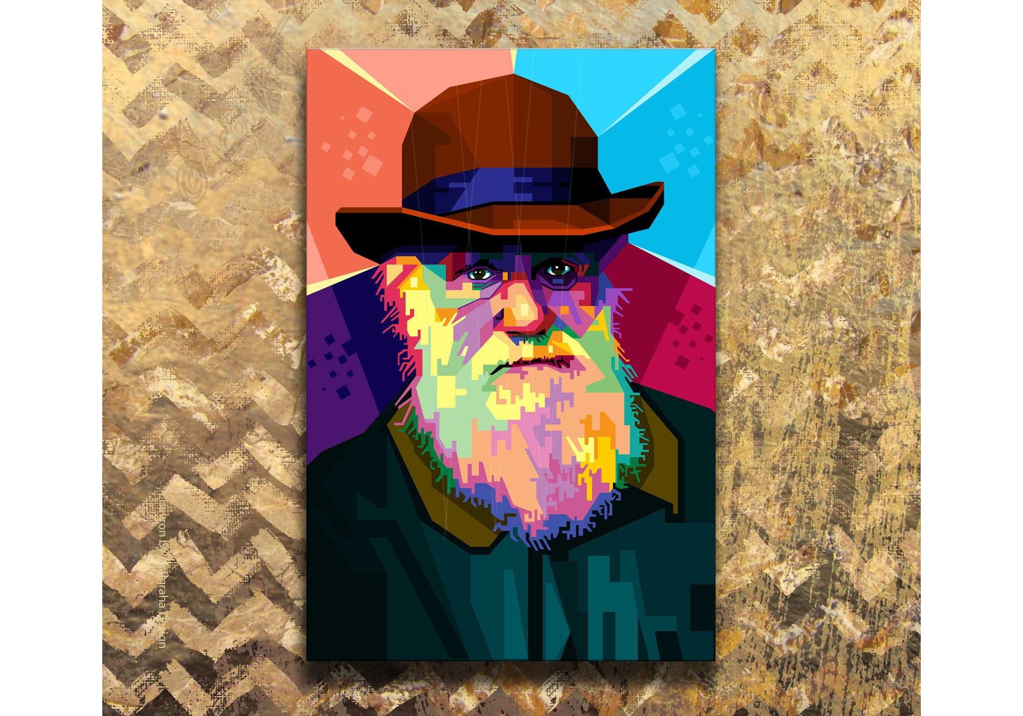 GEOLOGIST CHARLES DARWIN PORTRAIT PAINTING ART REAL CANVAS PRINT