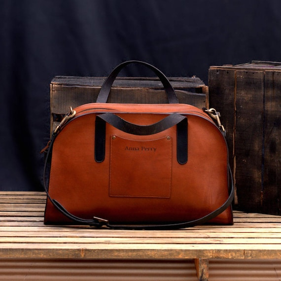 8f3015a3dc34 Leather Duffel Weekender Luggage Bag Vegetable Tanned