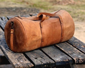 Leather Duffel Bag - Leather Weekend bag - Mens Leather Bag - Travel Bag - Gym Bag - Leather Shoulder Bag - Crossbody Bag - Overnight Duffle