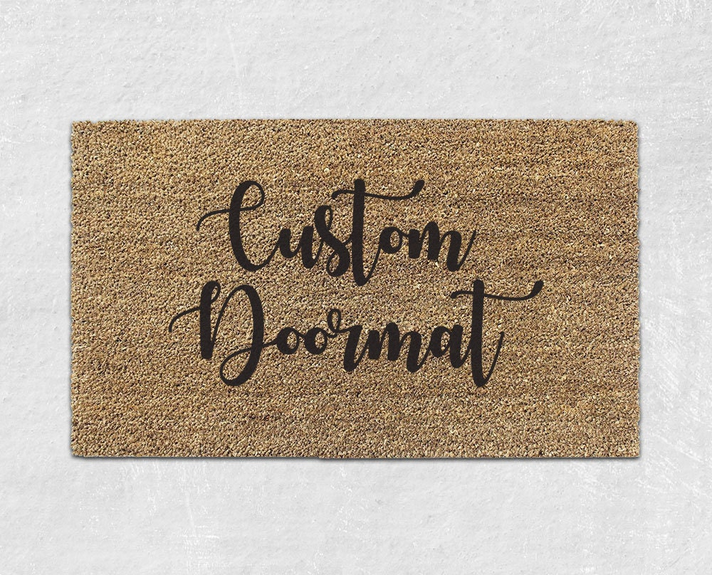 Custom Doormat Custom Door Mat Personalized Door Mat Etsy