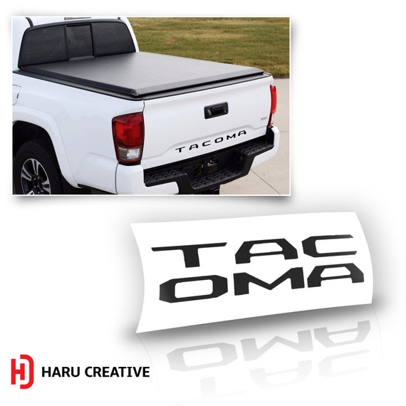 Tailgate Real Carbon Fiber Letters Inserts for Toyota TACOMA 2016 2017 2018