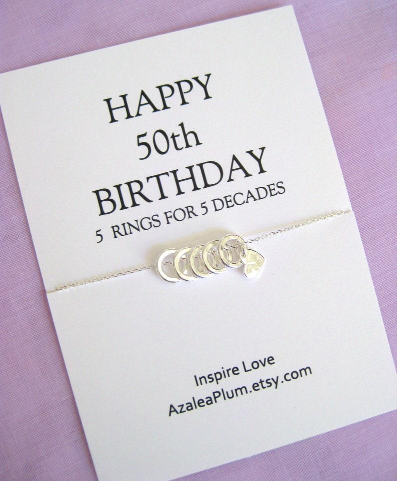 50th Birthday For Women Gift Sister
