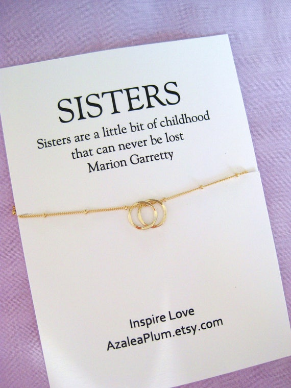 Sister Gifts Necklace Birthday