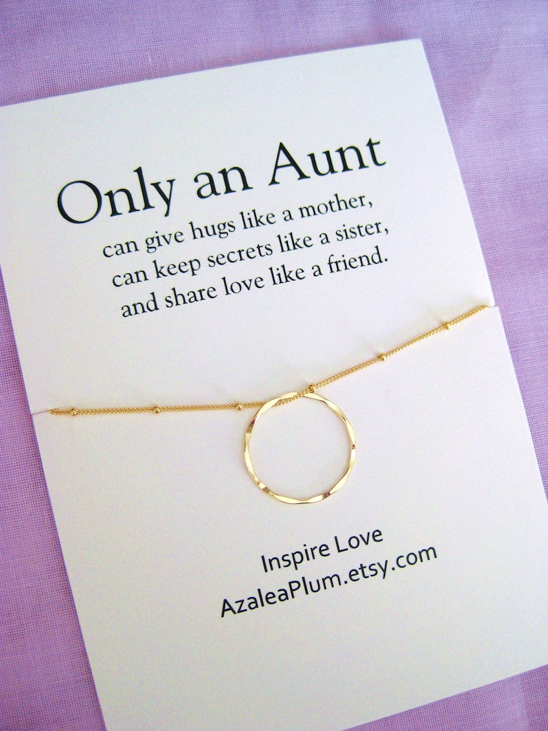 Aunt Gift Necklace Birthday Jewelry For Her