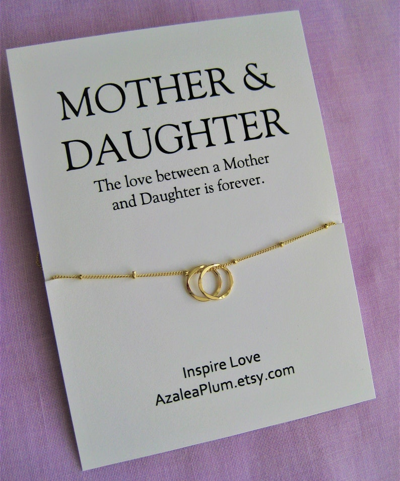 Mother Daughter Necklace Mom Gift Birthday Mothers