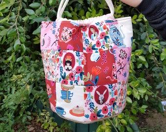 Kinchaku | Drawstring Bag | Bucket Bag | Cotton and Steel