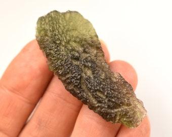AAA Quality Moldavite Specimen 8.8 Grams Moldavite Glass Gemstone Tektite Mineral Moldavita Moldavia Czech Republic Moldavite Rock Crystal