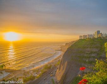 "Photography Print ""Harmonize"" Fine Art Photo Sunset Art Sunset Photo Travel Photo Ocean Art Sunset Print Peru Photography Travel Photography"