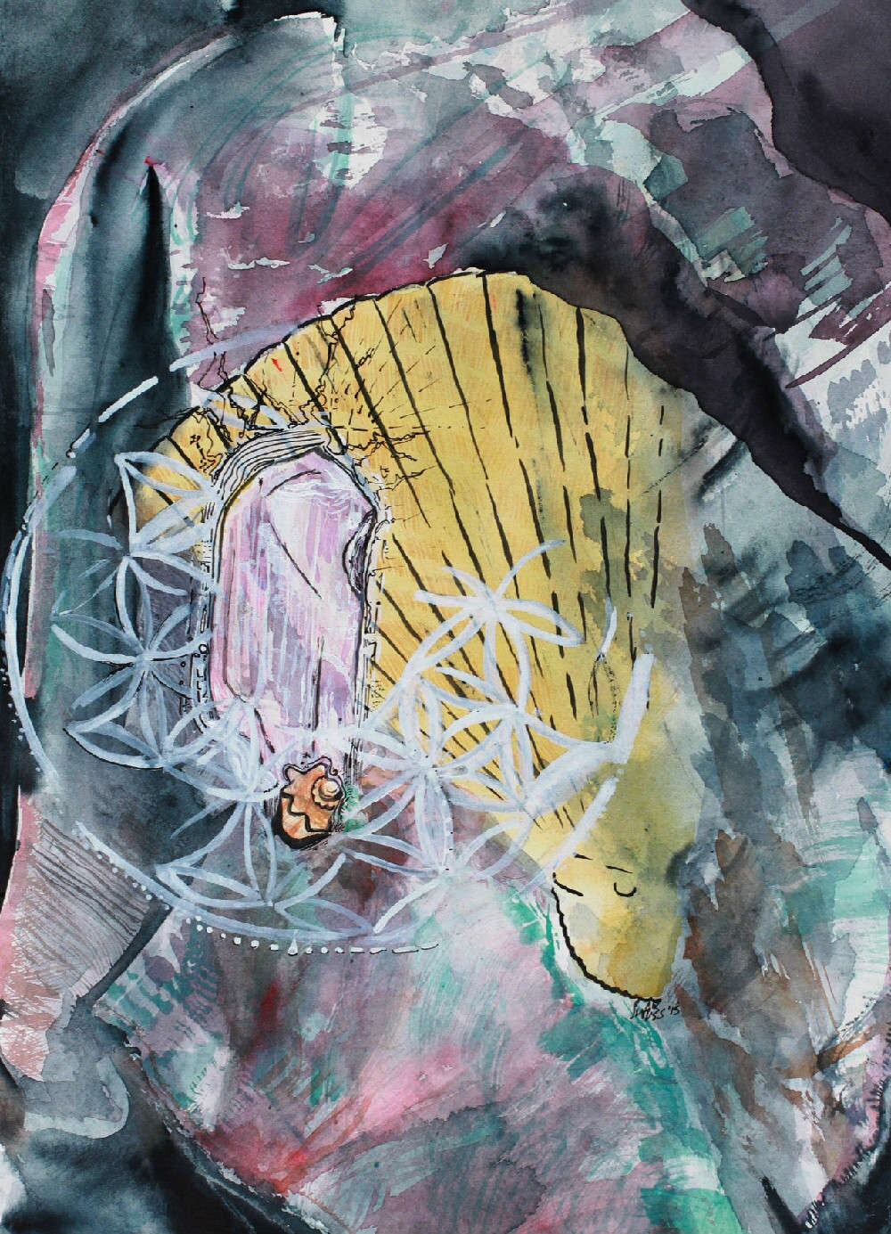 Watercolor Artwork Sulu Sacred Movement Goddess Original