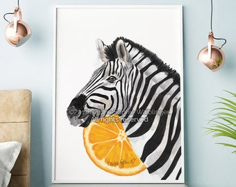 Zebra Print, Zebra Wall Art, Zebra Poster, Living Room Wall Art, Large Wall Art, Modern Art, Surreal Art, Kitchen Decor, Bedroom Wall Art