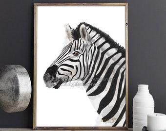 Zebra Print, Animal Print, Zebra Wall Art, Living Room Wall Art, Kitchen Decor, Large Wall Art, Bedroom Wall Art, Zebra Decor, Zebra Art