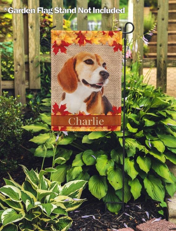 Personalized Dog Flag Custom Outdoor, Beagle Garden Flag
