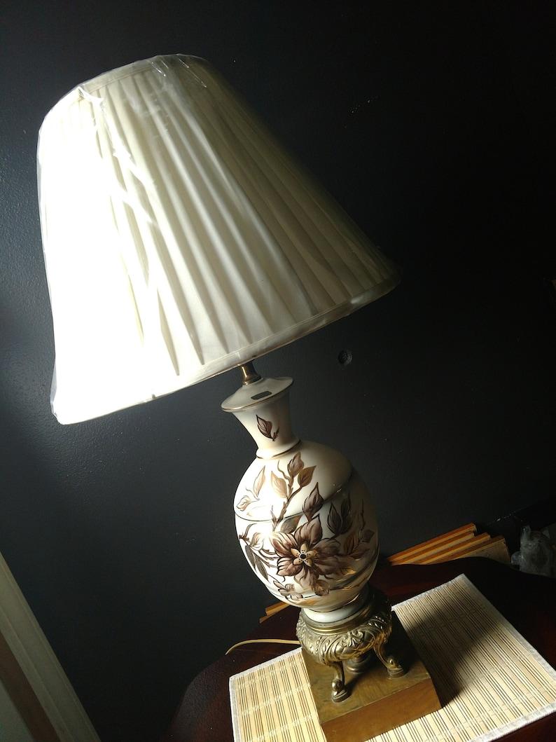 Vintage Hand Painted Porcelain Lamp