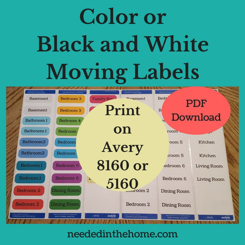 graphic about Printable Moving Labels known as Printable Transferring Labels in direction of seek the services of Packing for a Dwelling Flow print upon Avery 8160 or 5160 labels or paper residence going box labels stickers down load