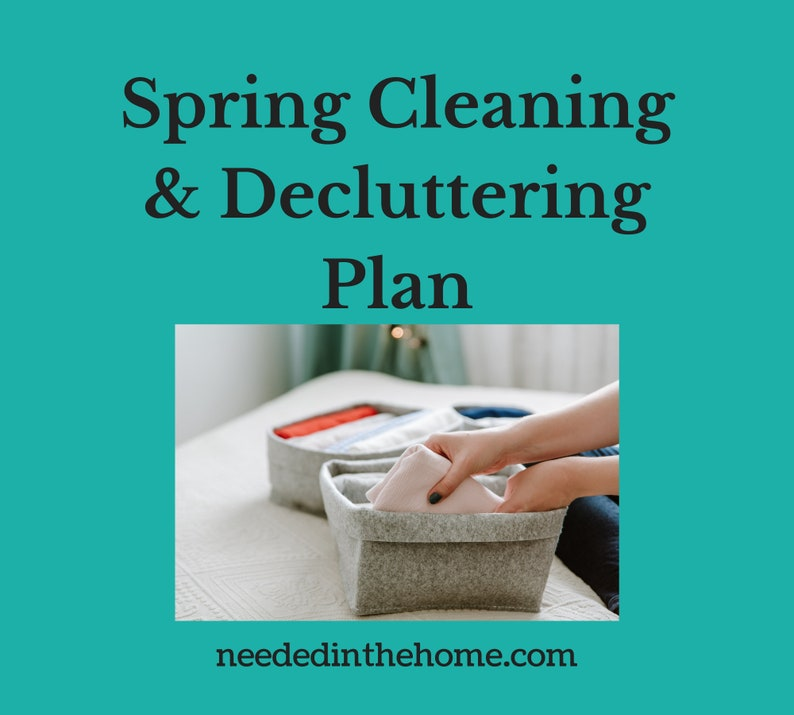 Spring Cleaning and Decluttering Plan Printable 3 pages image 0