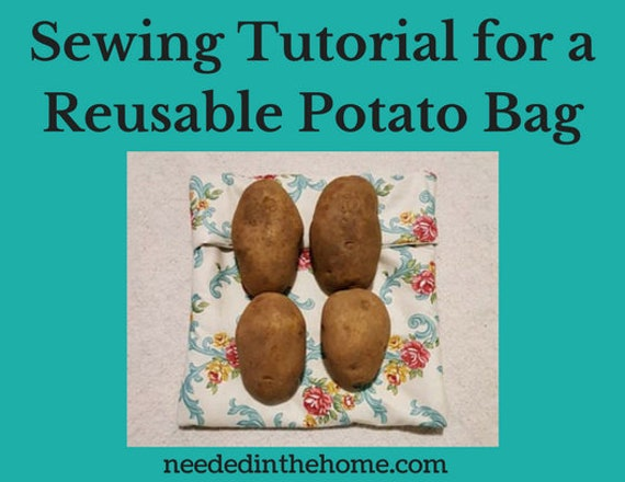 Sewing Tutorial For A Reusable Microwave Potato Bag Plus Etsy