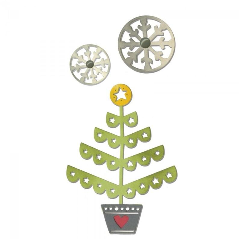Sizzix Thinlits Die Set 3PK Christmas Tree /& Snowflakes  660726