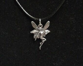 Silver Fairie Fairy Fae Necklace